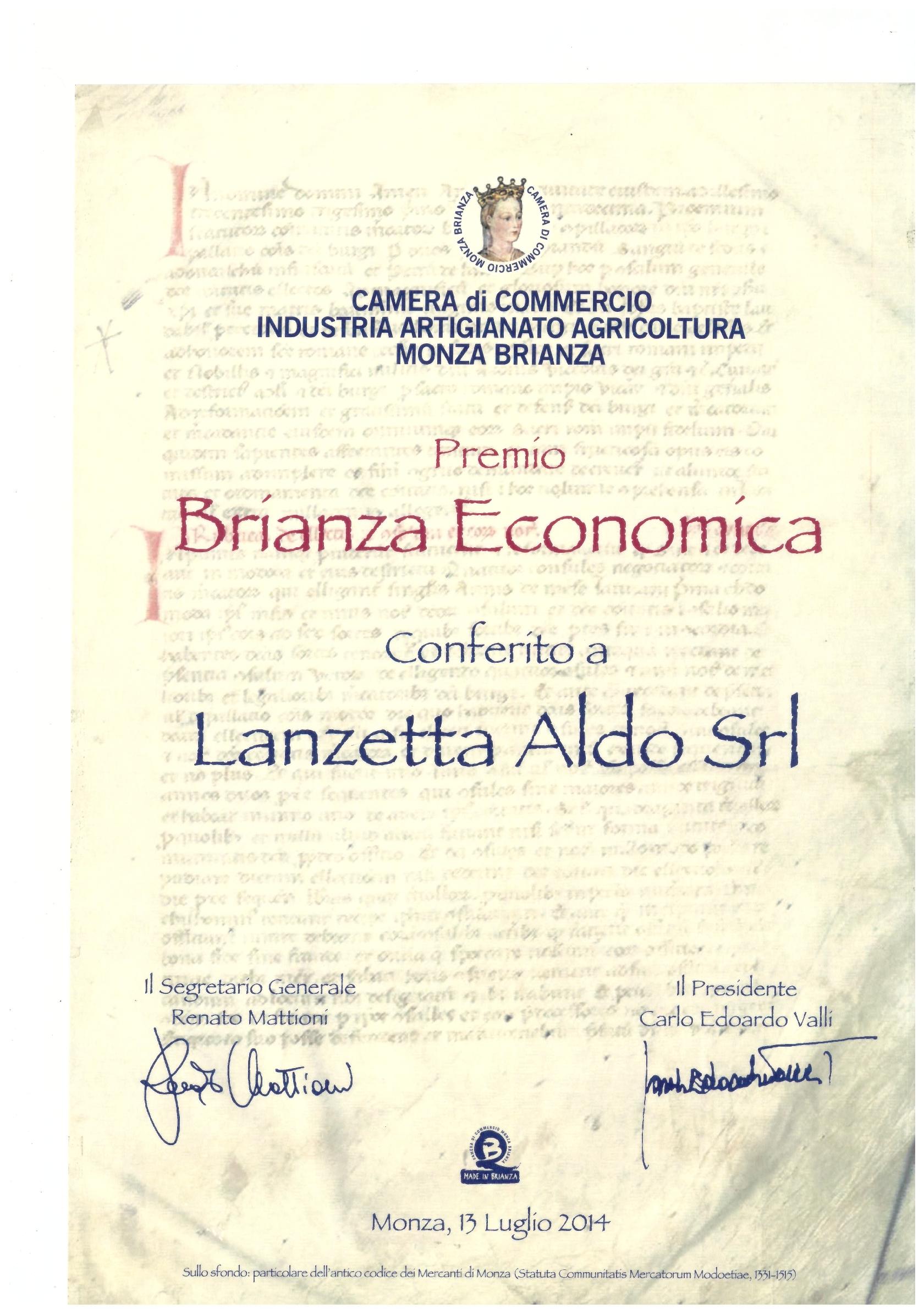 Premio Brianza Economica
